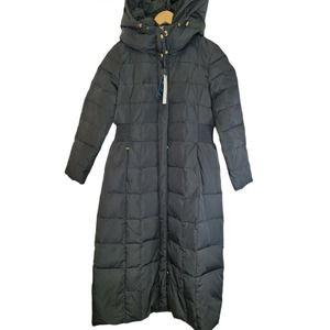 Cole Haan Women's Long Black Down Puffer Jacket